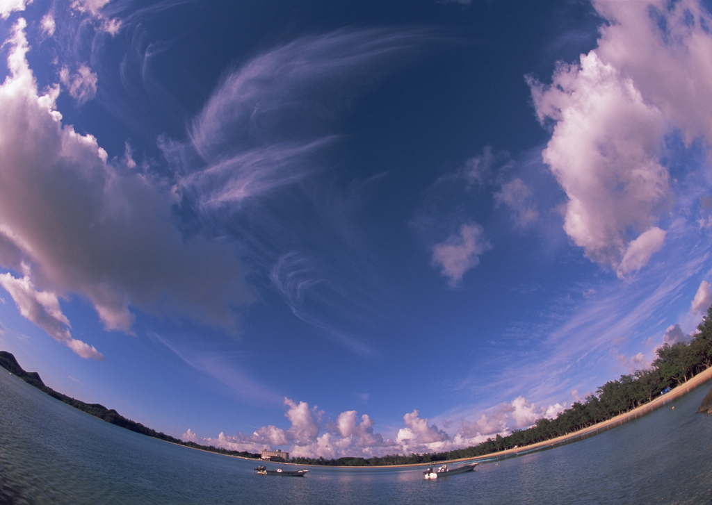 海边风景夕阳晚霞海滩海岛风景大海