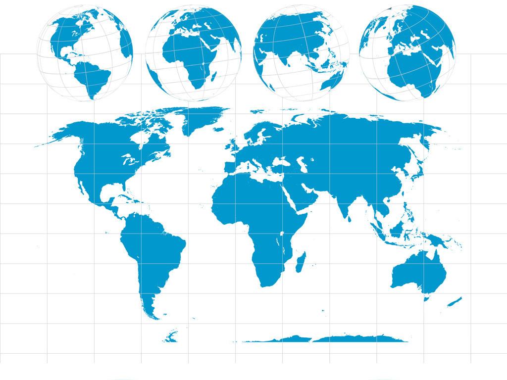 矢量世界地图地球素材