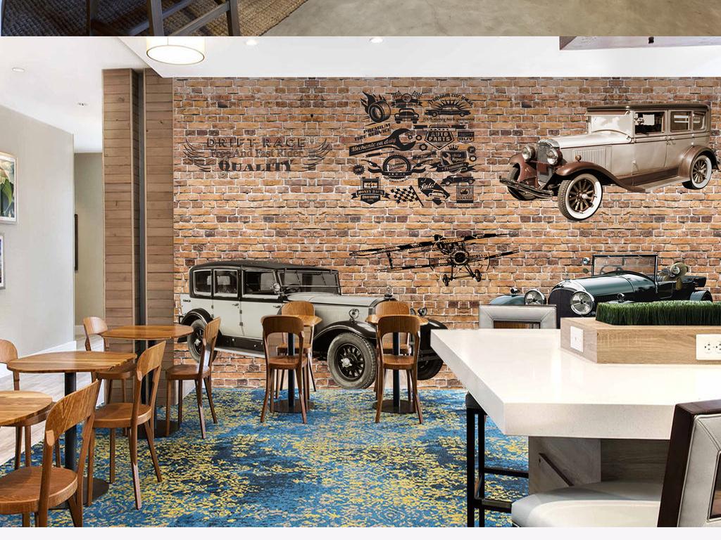 设计作品简介: 复古怀旧汽车背景墙