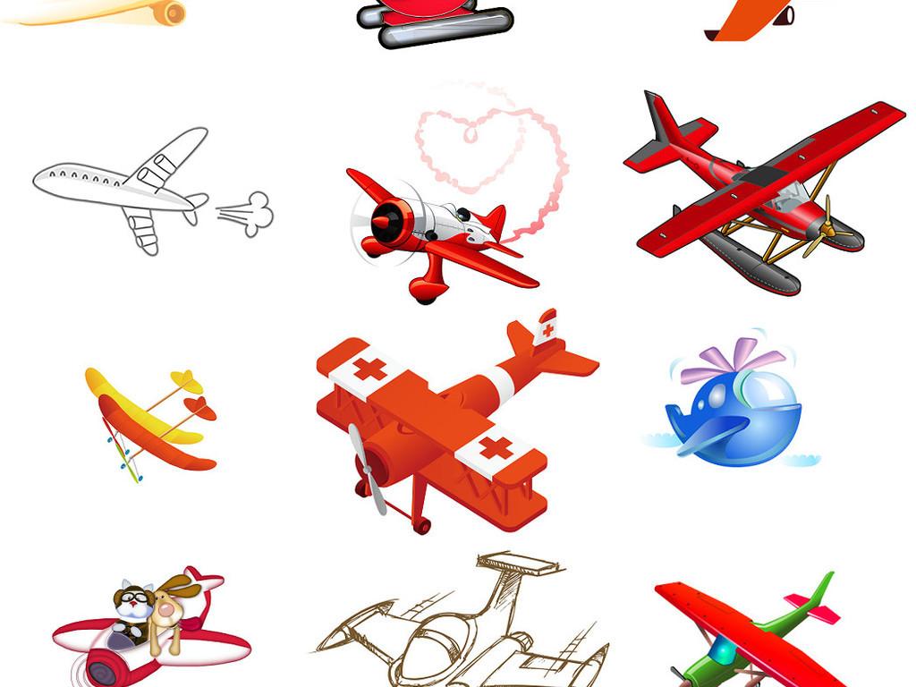 设计元素 其他 效果素材 > 可爱卡通飞机免抠设计模版5  版权图片