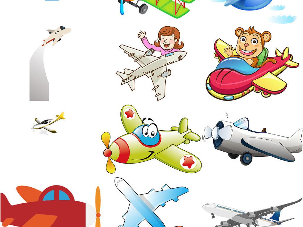 设计素材卡通飞机图片飞机图片纸飞机飞机蓝天飞机云