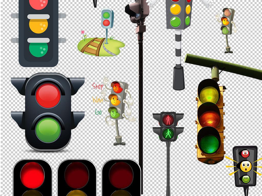 交通红绿灯指示海报设计素材