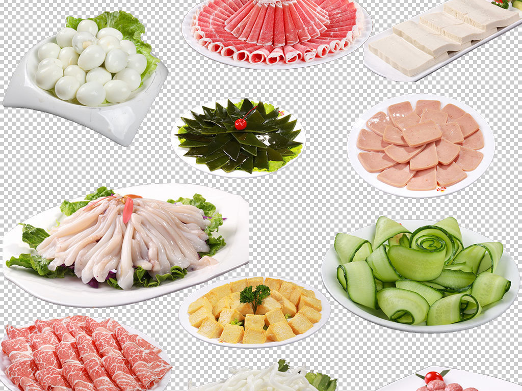麻辣火锅配菜图片餐饮海报设计素材