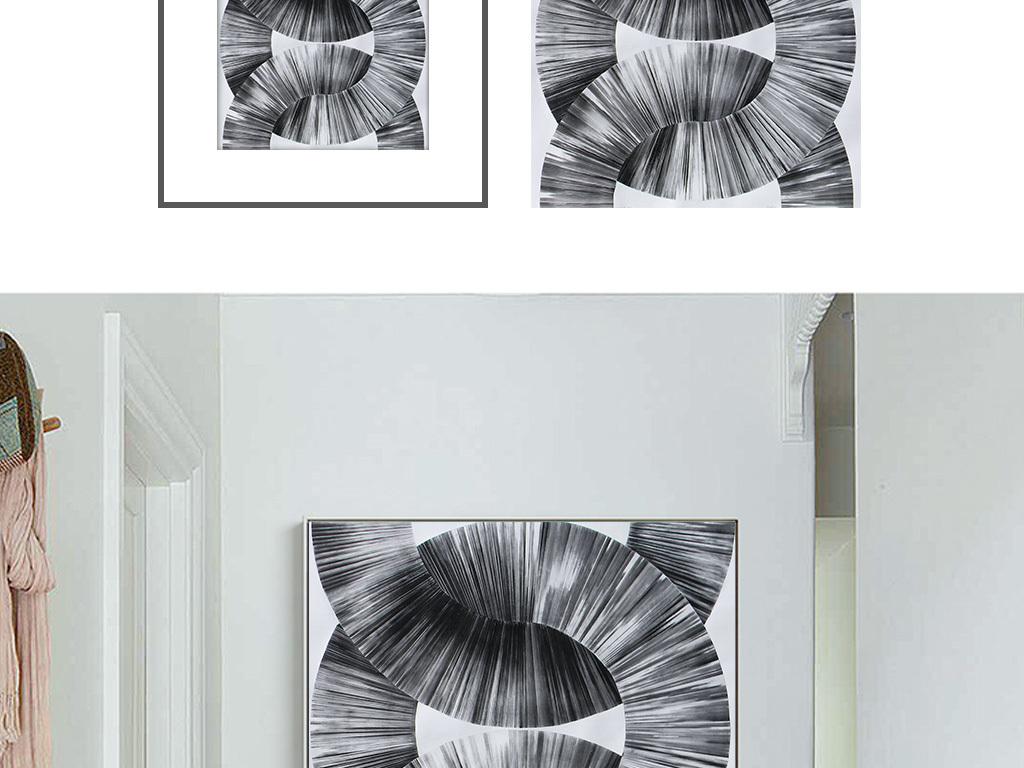 抽象背景墙单联画电表箱装饰画