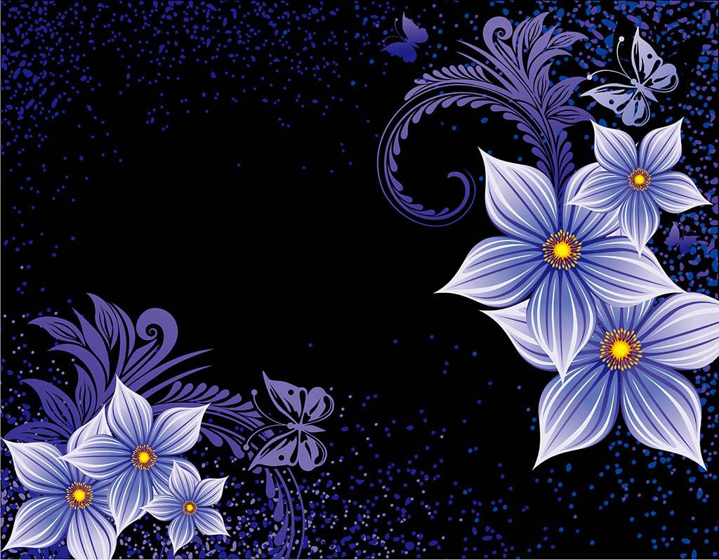 2017-02-10 18:28:26 我图网提供精品流行紫色小花唯美现代背景墙素材