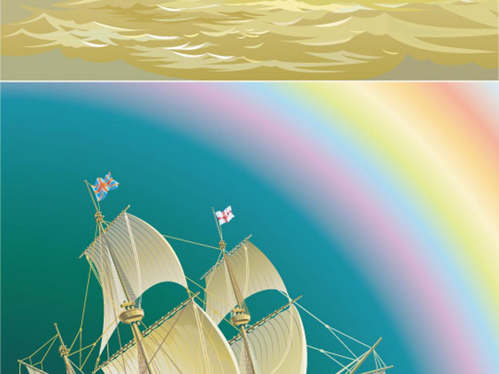 海上帆船扬帆起航图扬帆起航图片放飞梦想扬帆起航乘风破浪扬帆起航