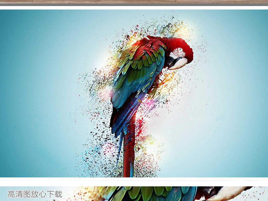手绘鹦鹉高清图片