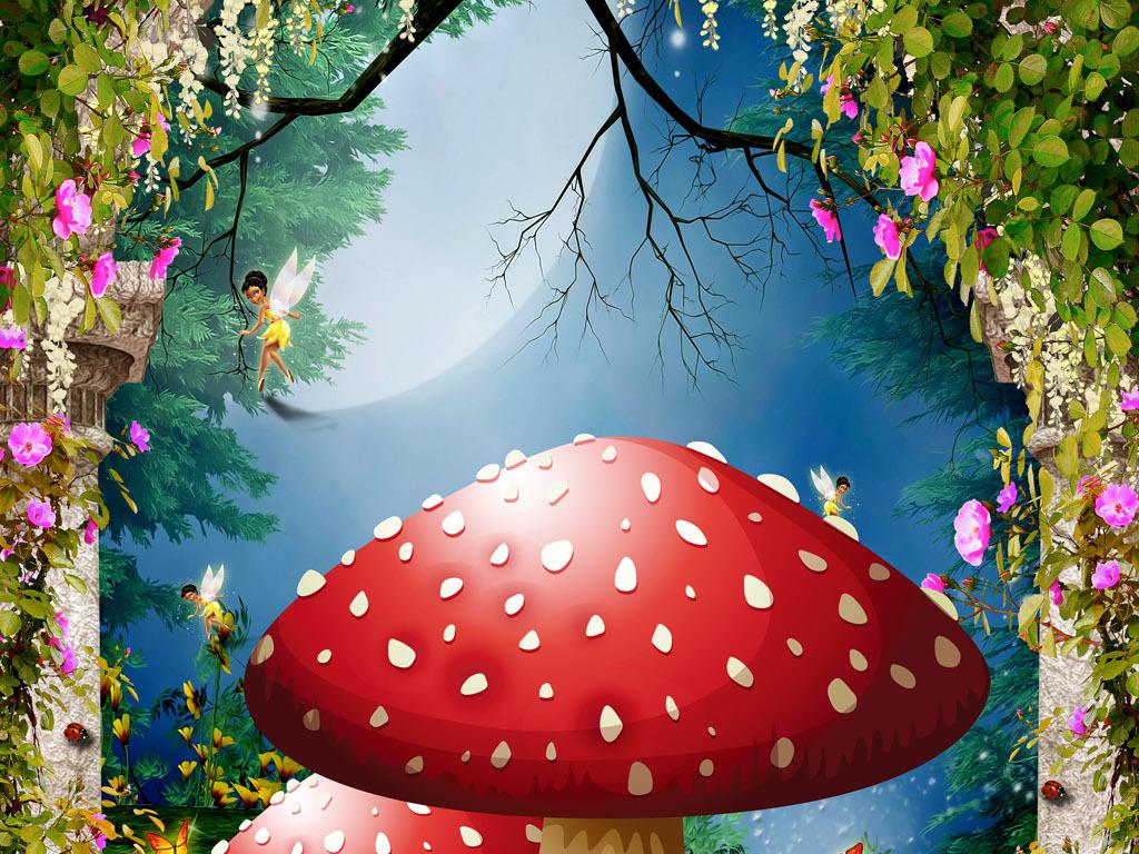 梦幻童话森林童话玄关油画玄关欧式油画玄关抽象油画