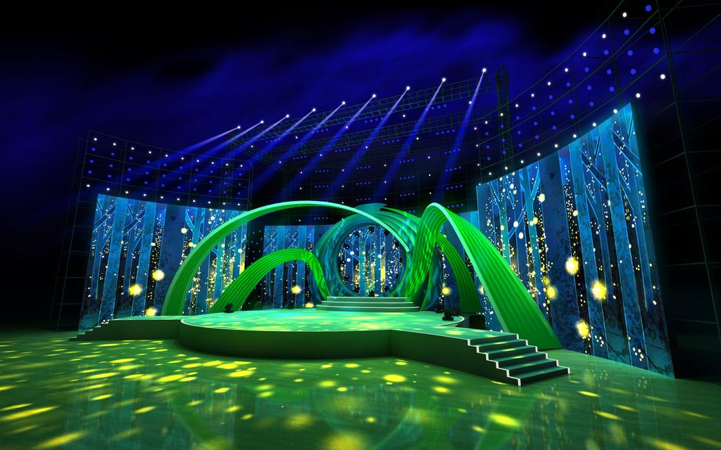 湖南卫视中秋晚会大型舞美设计异形舞台设计