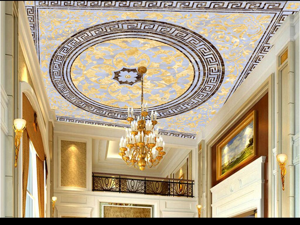 高清欧式天顶天花欧式石材地毯拼花(图片编号:)_欧式图片