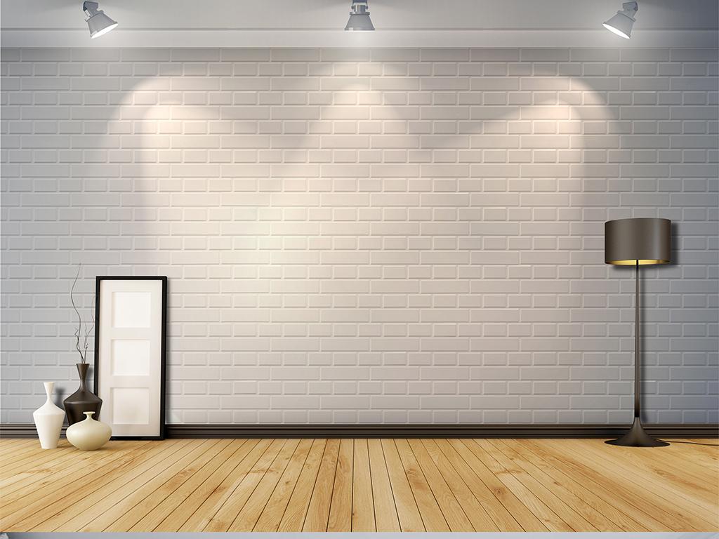 欧式复古砖墙吊灯灯泡酒吧咖啡店背景墙