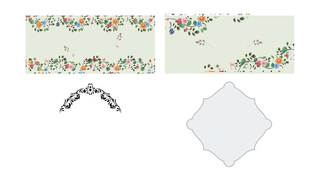 花边花纹矢量装饰素材个性邀请函模板