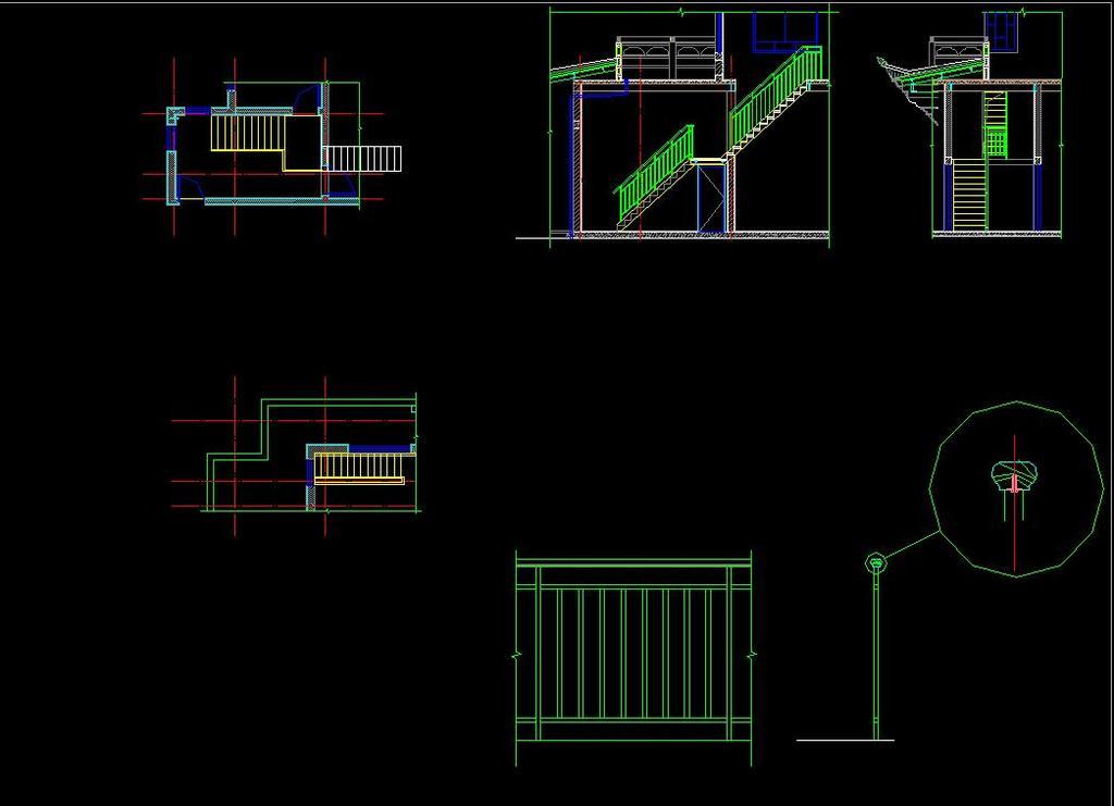 图纸雷峰塔施工图中式仿古建筑廊架景观长廊花架棚架