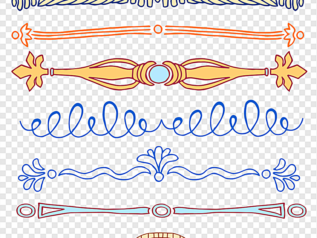 手绘欧式欧式古典花纹欧式花纹边框欧式花纹花边矢量
