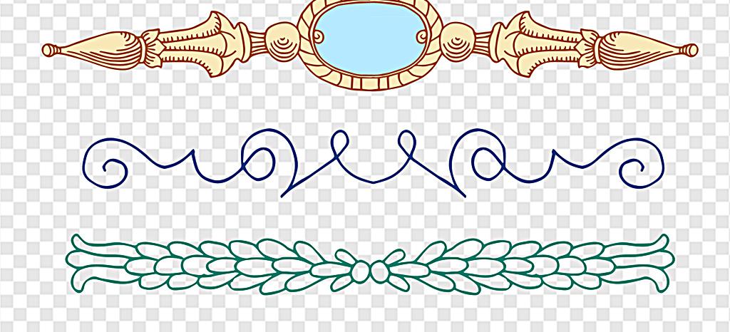 边纹素材手绘花纹小报花纹欧式花纹卡通花纹