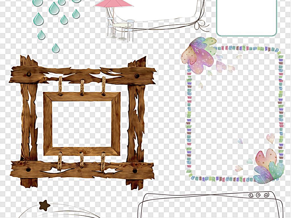 新年边框复古边框手绘边框小报边框图片