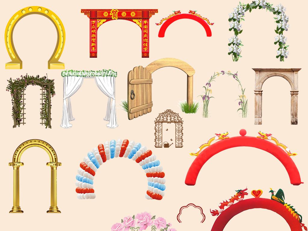 png)手绘铁制拱门素材                                  拱门设计