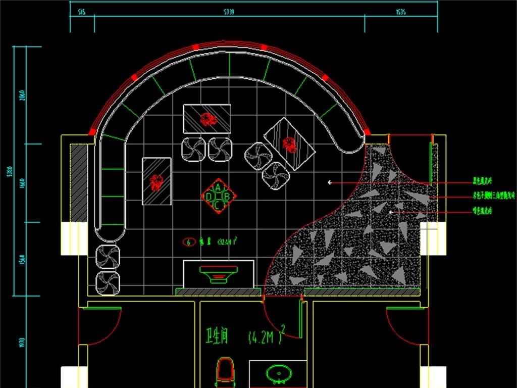 豪华ktv包厢cad装修图平面设计图下载(图片4.47mb)