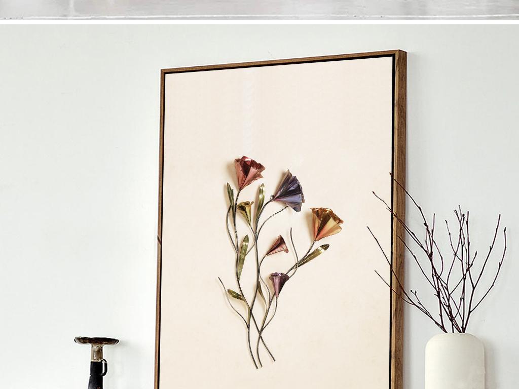 动物抽象艺术咖啡厅简约装饰画立体装饰画花卉花朵立体立体花卉花卉时
