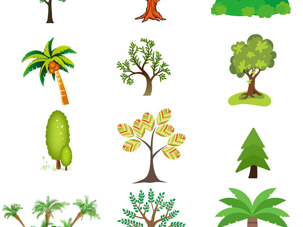 植树节小报卡通绿树免抠png设计素材1