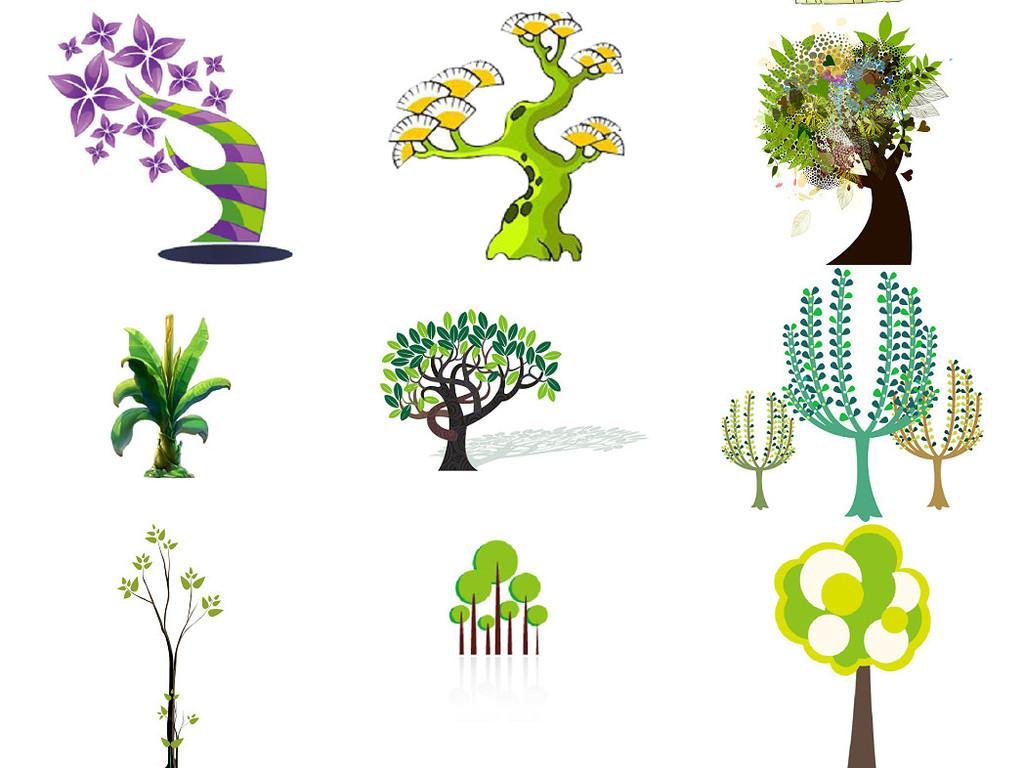卡通小树大树免抠png设计素材图片