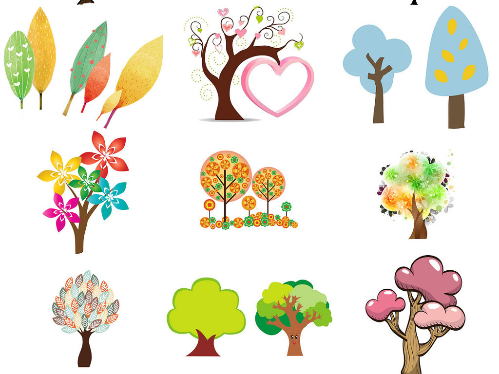 卡通小树卡通大树免抠设计图集3