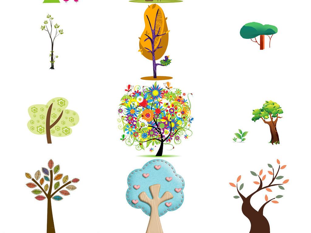 卡通小树卡通大树免抠设计图集4