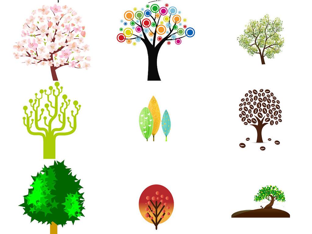 卡通小树卡通大树免抠设计图集5