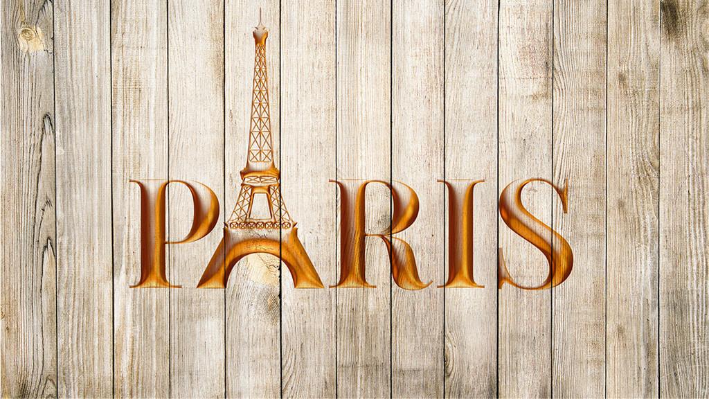 法国巴黎复古建筑铁塔背景墙