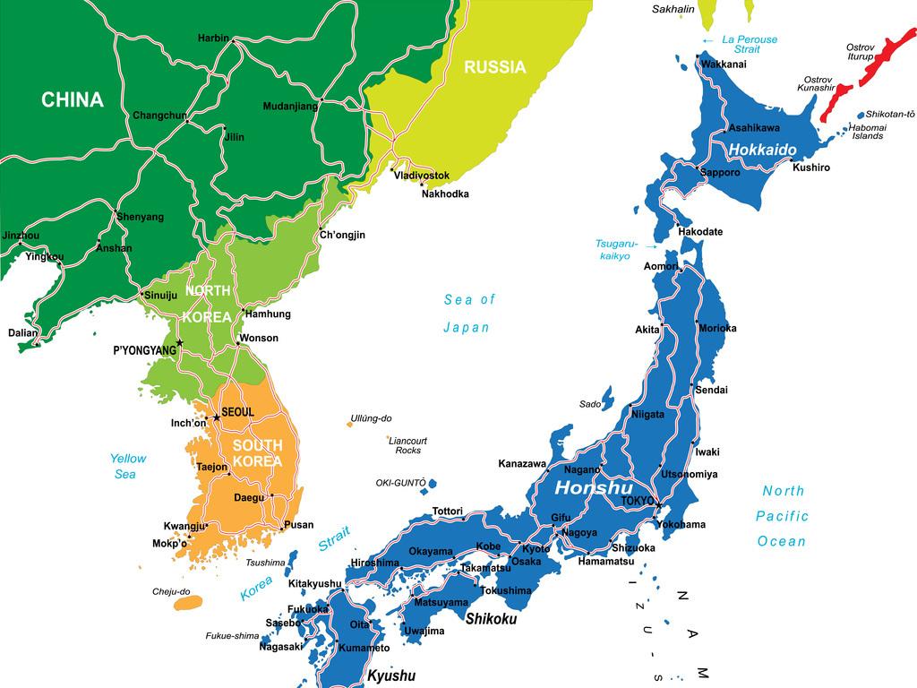 日本矢量地图