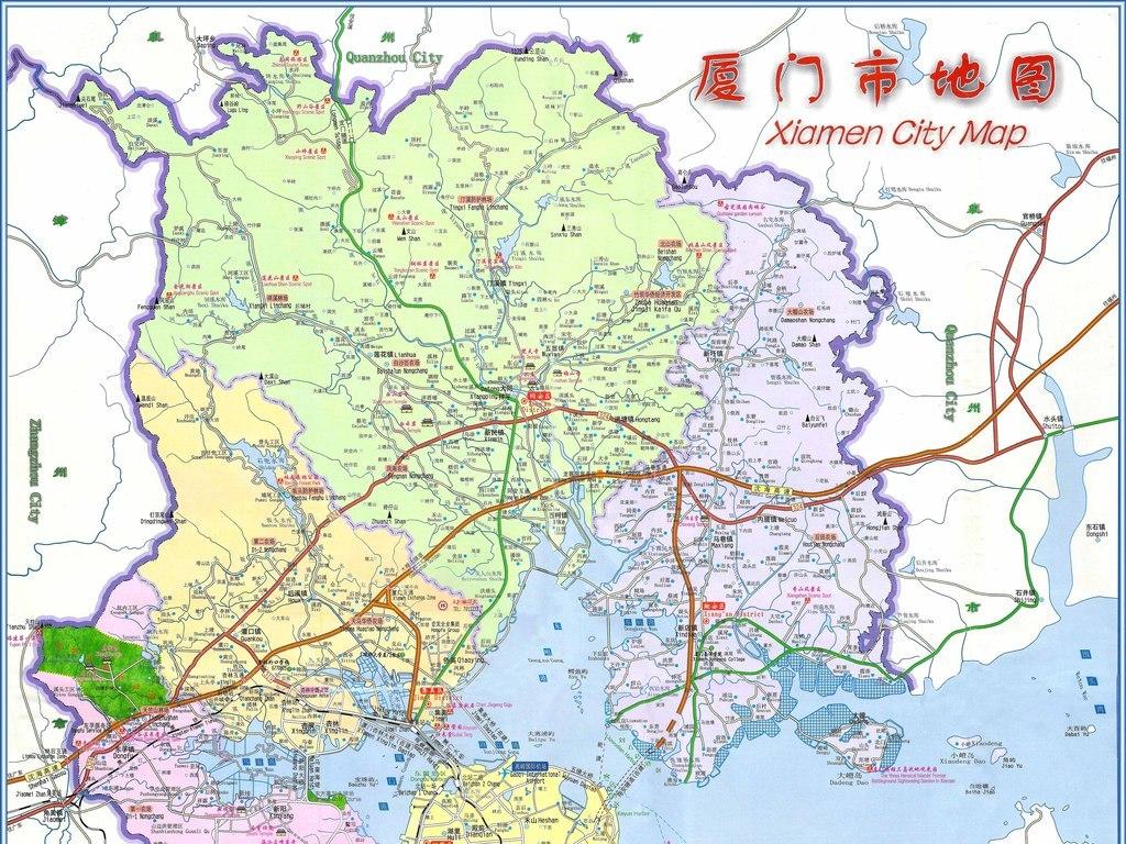 厦门市地图高清实用全图