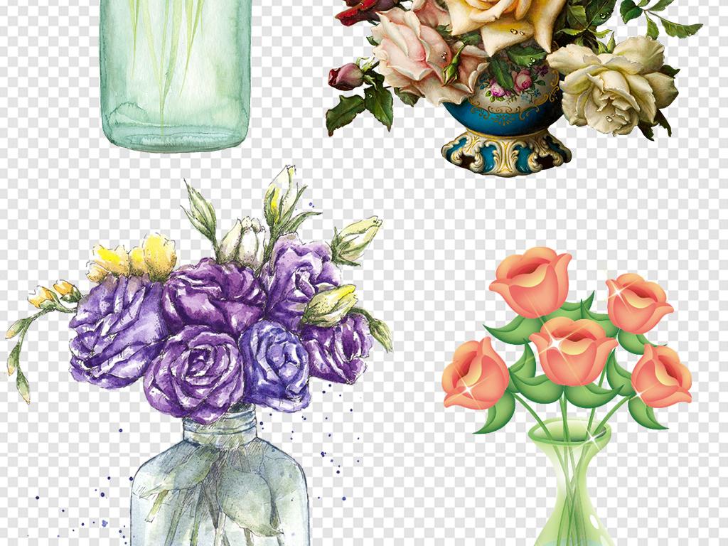png)卡通花瓶插花