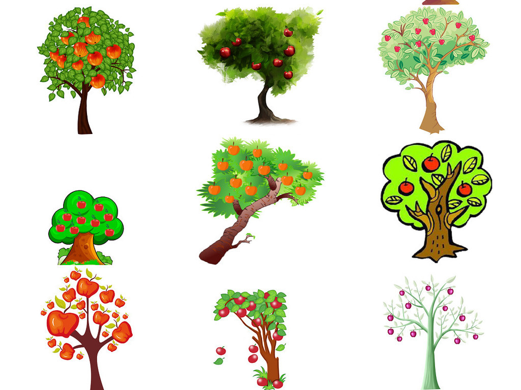 卡通苹果树免抠png设计素材