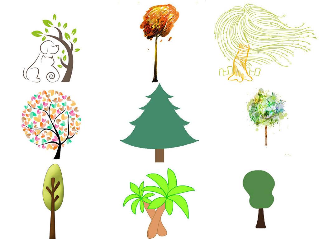 卡通小树卡通树免抠无框画素材1图片