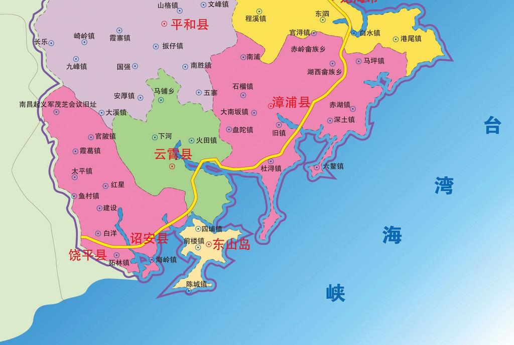 漳州市地图高清大图