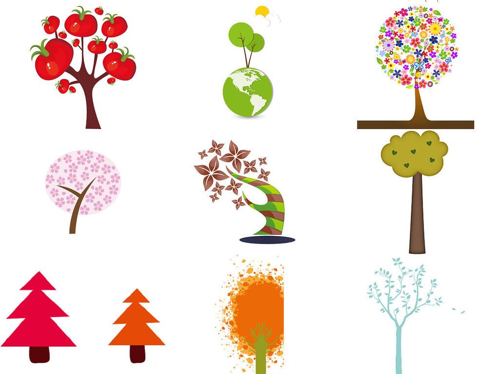植树节植物素材卡通树免抠设计素材4
