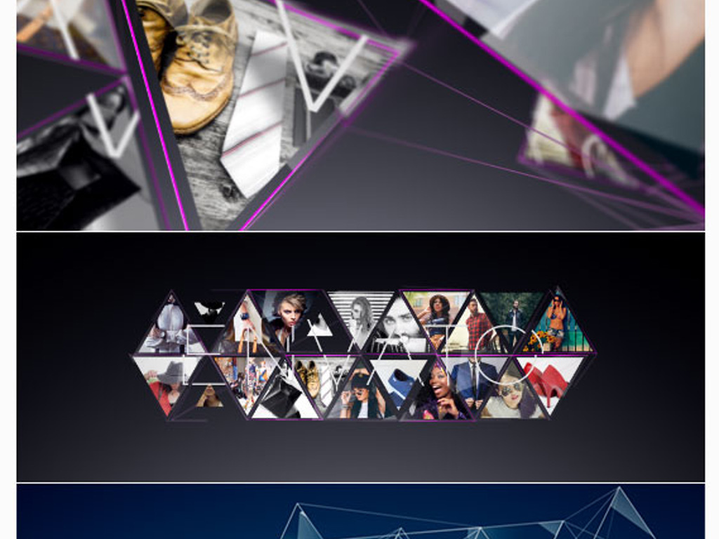 三角形连接幻灯片ae模板