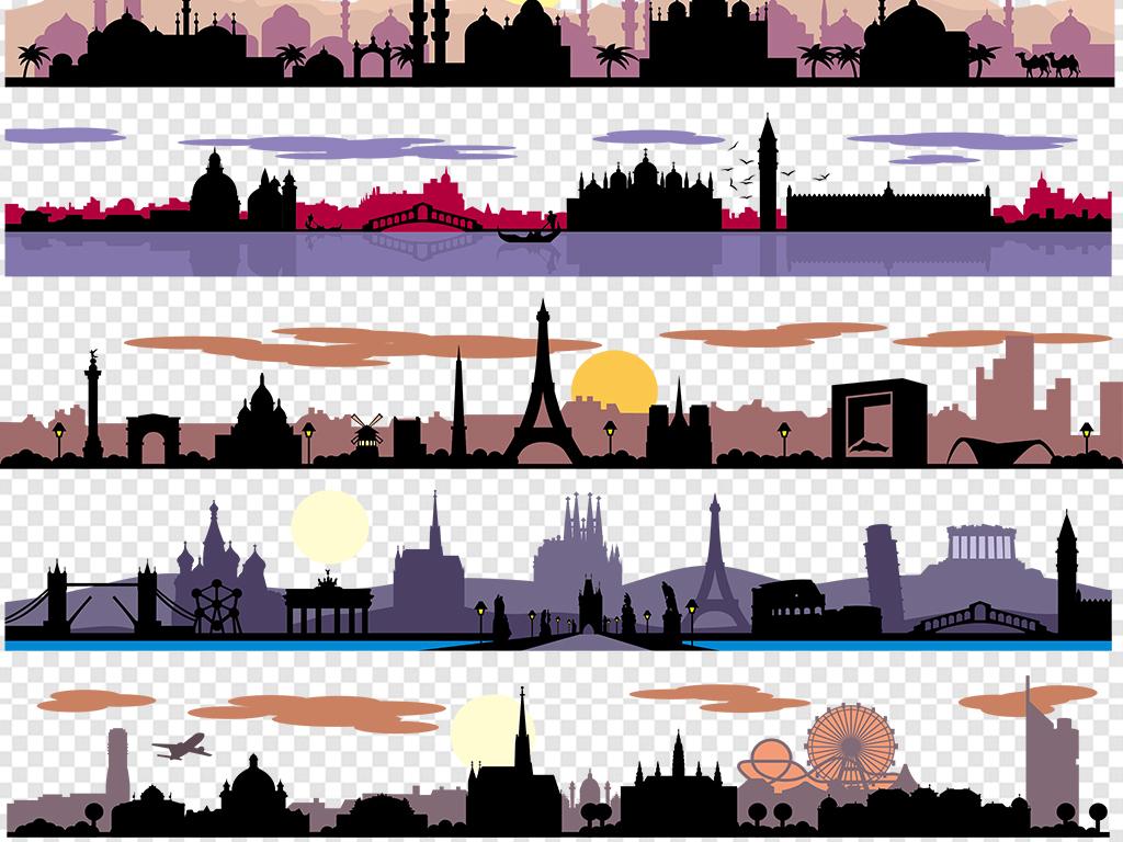 城市素材图片手绘海报设计素材手绘海报素材手绘爱心