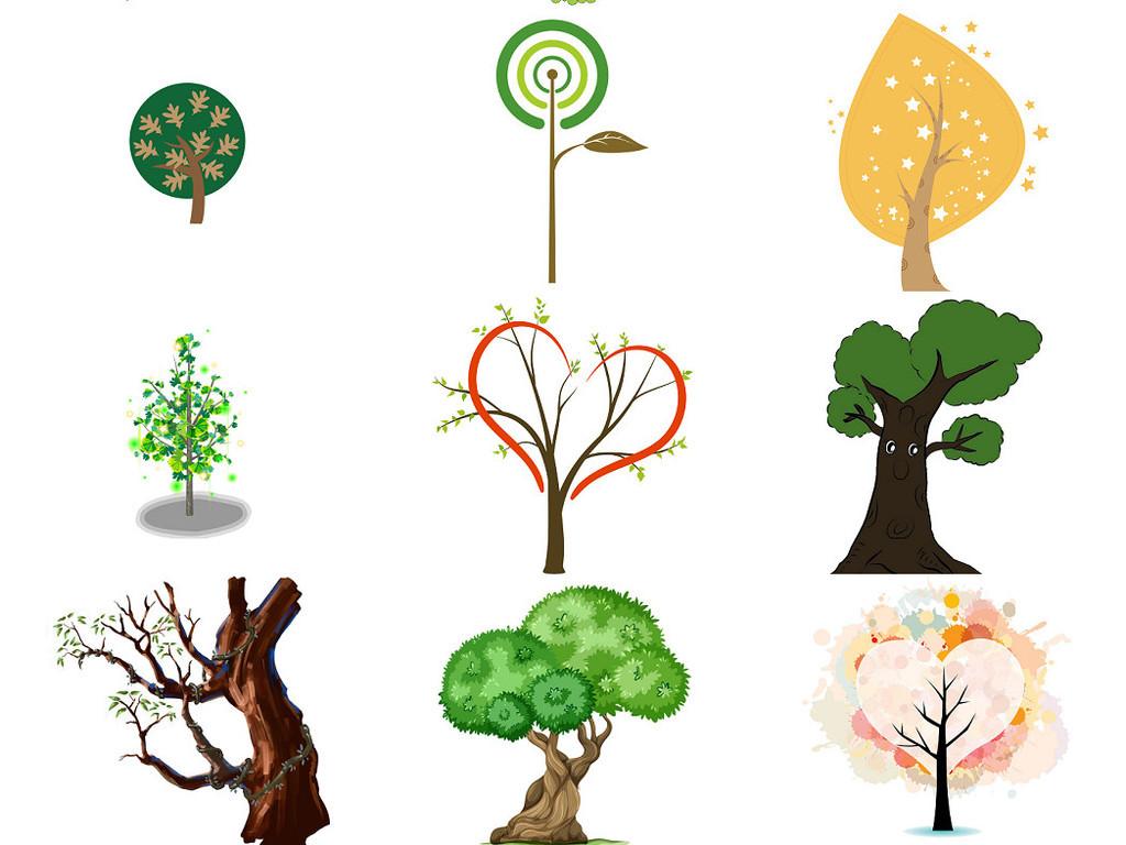 可爱卡通树图片素材下载1