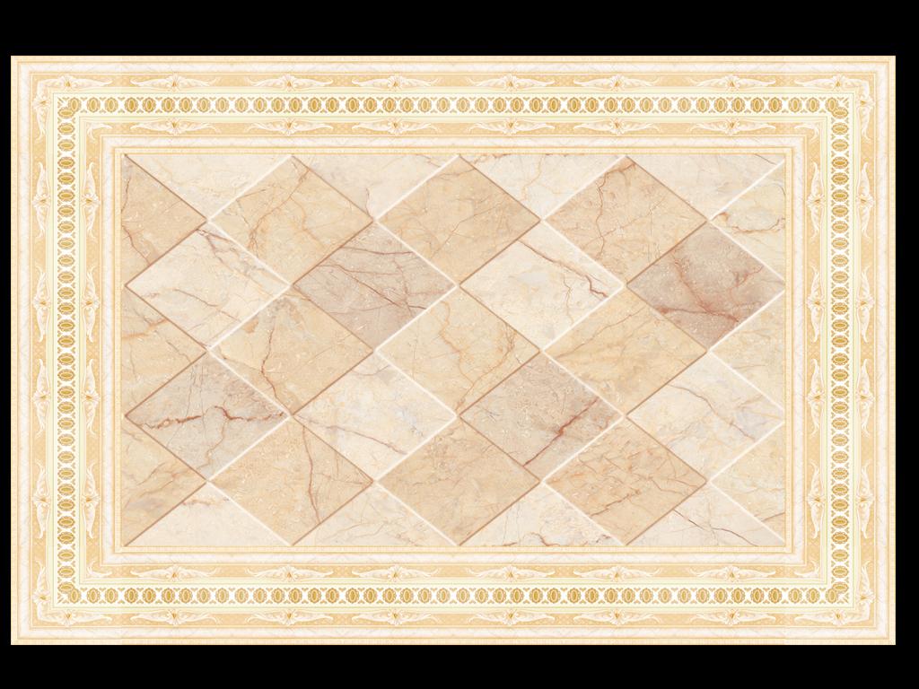 欧式简约石纹吊顶天花欧式石材拼花地毯(图片编号:)图片
