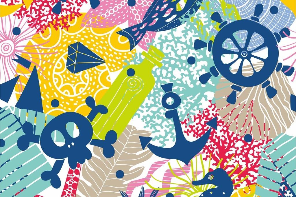 印花图案儿童房间背景墙儿童主题乐园印花图案幼儿园