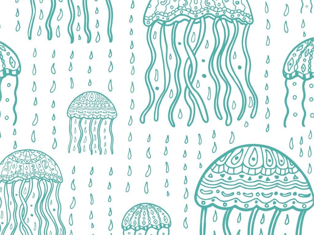 幼儿园中班美术作品水母