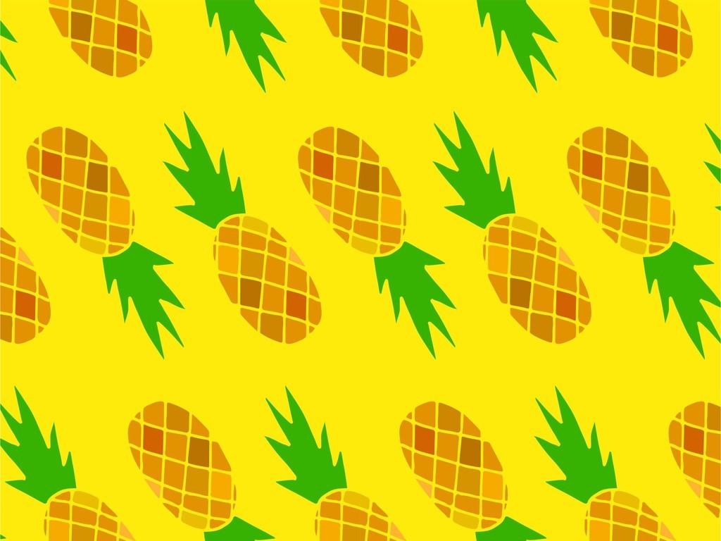 菠萝小清新手机壳印花图案