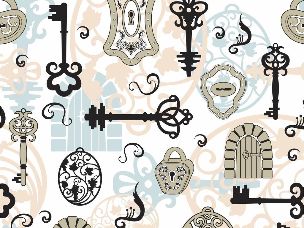 欧式古典 > 欧洲艺术欧洲建筑卡通绘画背景墙印花