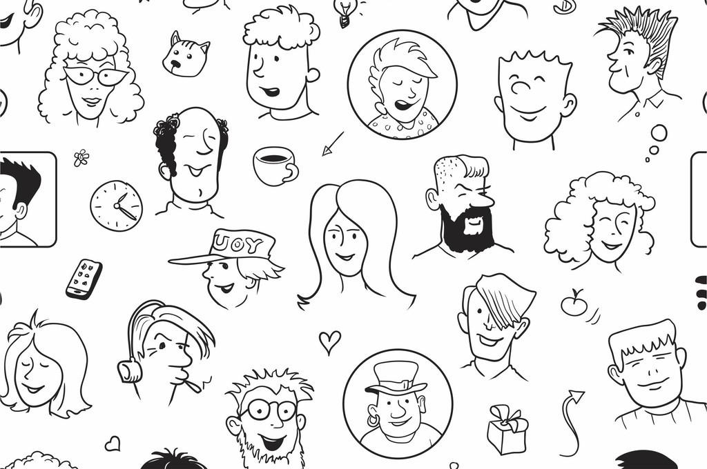 人物图案手绘人物手机壳印花图案设计图片_高清 矢量