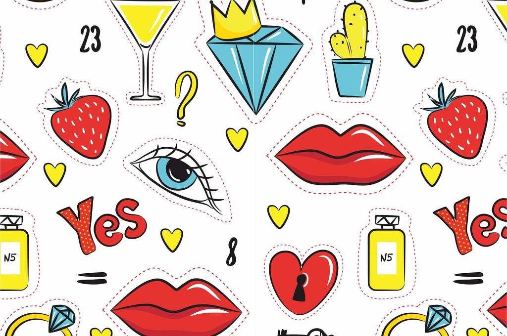 人物图案五官美食世界物品器件卡通花型设计