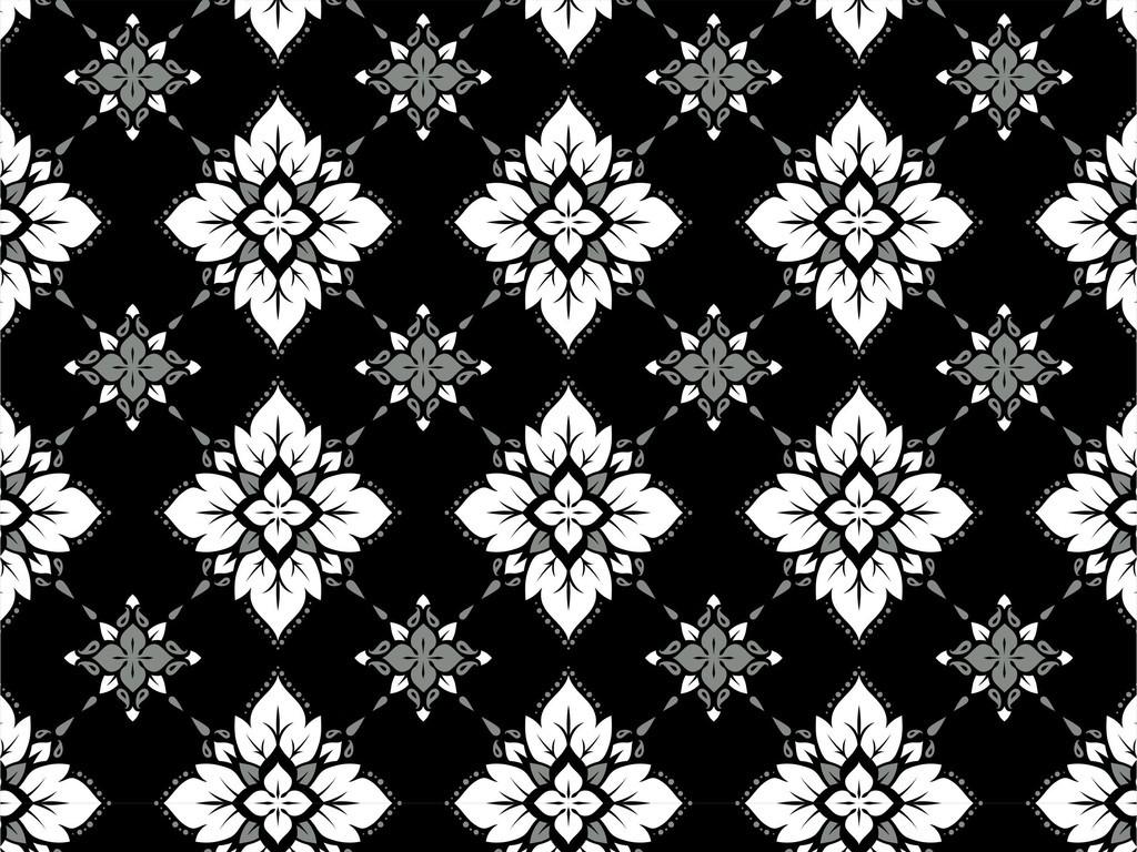 植物花卉图案地砖纹样欧式复古印花图案素材
