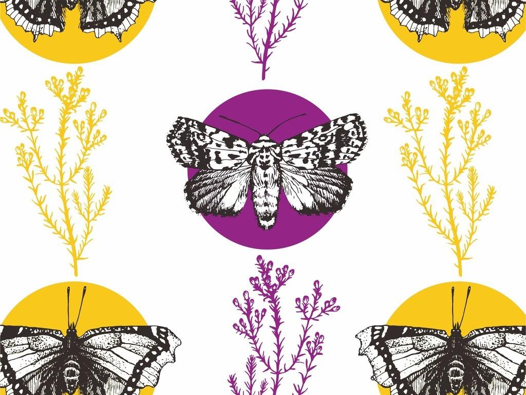 产品图案设计 t恤图案 植物花卉图案 > 植物花卉树木动物图案蝴蝶t恤