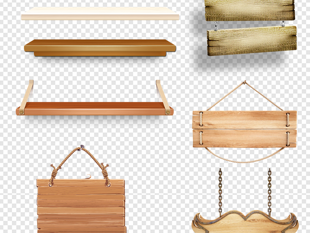 木板木牌指示牌台子素材