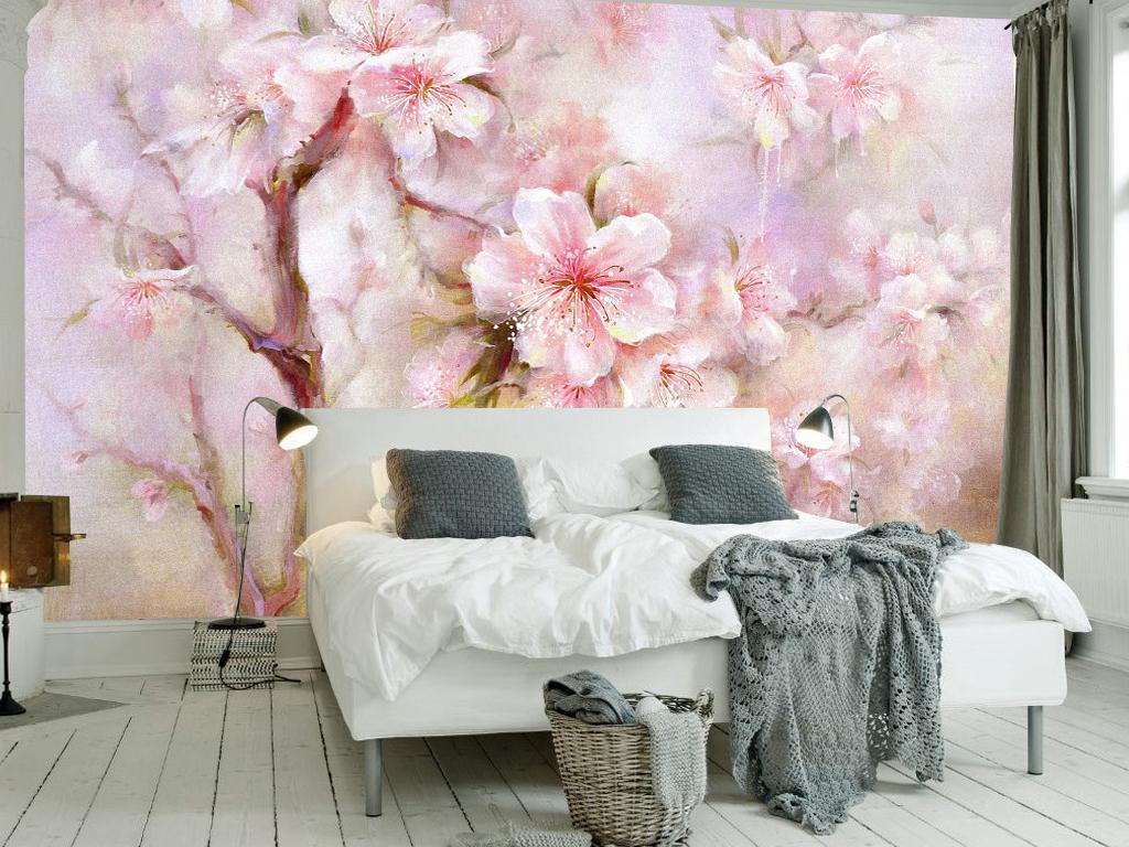 设计作品简介: 153温馨浪温唯美花卉沙发背景墙